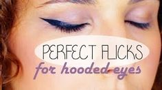 How to get perfect flicked out liner on hooded eyes! Love Makeup, Makeup Tips, Beauty Makeup, Hair Makeup, Makeup Tutorials, Eyeliner For Hooded Eyes, Winged Eyeliner, Make Me Up, Eye Make Up