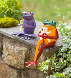 This pair of Baby Frog Statues will add some smiles to your garden. Modeled after our popular Coffee and Tea Frogs, these babies feature wonderful color and detail. They're whimsical and fun accents indoors or out. Frog Statues, Animal Statues, Garden Statues, Garden Sculptures, Metal Sculptures, Pillar Candle Holders, Pillar Candles, Charitable Donations, Oil Drum
