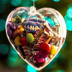 Lots christmas #decoration #heart #clear plastic balls can open bauble ornament ,  View more on the LINK: http://www.zeppy.io/product/gb/2/252505488447/