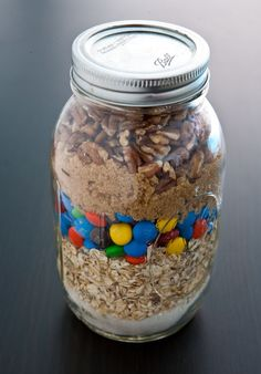 Monster Cookies Mix {Desserts in Jars Cookbook Giveaway} by EclecticRecipes.com #recipe