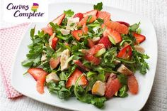 Are you looking for a healthy way to add variety to your life? The Curves Complete plan has recipes like Lime Chicken Salad with Grapefruit and Spinach. Call 543-9735 for details!
