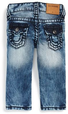 True Religion Brand Jeans 'Geno' Relaxed Slim Fit Jeans (Baby Boys) (Online Exclusive)
