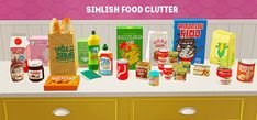 BellaDovah's Simblr — Decorative Food Clutter made into Functional... The Sims, Sims Cc, Nutella Jar, Sims 4 Kitchen, Sims 2 Hair, Bookmark Printing, Sims 4 Clutter, Play Sims, Sims 4 Cc Furniture