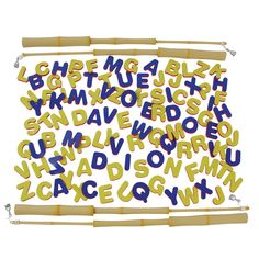 Use the four bamboo-style plastic poles with magnetic lures to catch the H dense foam alphabet letters. Magnets, Alphabet, Classroom, Letters, Fish, Alpha Bet, Fonts, Letter