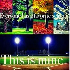 I don't know what I'd do without softball.  This sport is my life