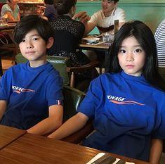 GYURI AND JUN❤️ Cute Asian Babies, Korean Babies, Asian Kids, Cute Babies, Ulzzang Kids, Ulzzang Couple, Twin Girls, Twin Babies, Cute Little Baby