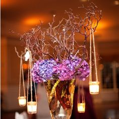 Purple wedding ideas are more sophisticated than ever in this elegant wedding inspiration! This alluring color catches attention like no other. Purple Wedding Centerpieces, Centerpiece Decorations, Reception Decorations, Event Decor, Reception Ideas, Mod Wedding, Elegant Wedding, Dream Wedding, Wedding Table