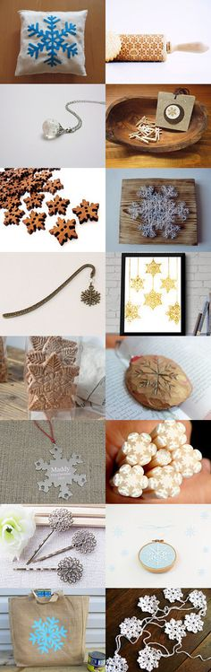 Le marque-page flocon de neige. Flakes by Kristell Lemoine on Etsy--Pinned with TreasuryPin.com