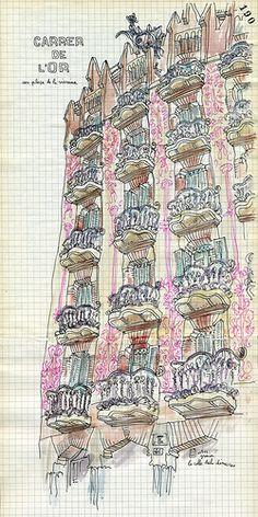 carrer de lor - gracia by lapin barcelona, via Flickr