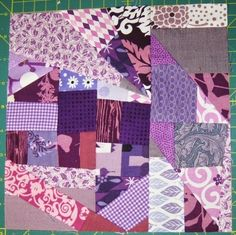 Learn how to crazy quilt with this Crazy Quilt Block tutorial. Crazy quilting is a fun way to create dimension and texture in your next quilt. This comprehensive tutorial explains how to piece together a crazy quilt block. Quilting Tutorials, Quilting Projects, Quilting Designs, Patchwork Designs, Quilting Tips, Sewing Tutorials, Sewing Ideas, Rag Quilt Patterns, Pattern Blocks