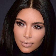 Kim Kardashian Make-up von Mario – - Lippen Make-Up Kim K Makeup, Nude Makeup, Glam Makeup, Hair Makeup, Flawless Makeup, Makeup Geek, Makeup Inspo, Makeup Inspiration, Looks Kim Kardashian