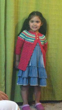 Chaleco crochet Modelo: Antonia Saavedra