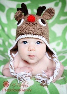 Reindeer hat for babies