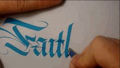 Faith. via 21 Prime Examples Of Penmanship Porn