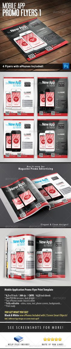 Mobile App Flyer Mobile app, App and Flyer template - discount flyer template