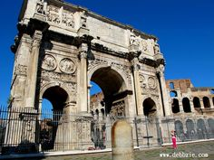 Triumphal arch of Constantine, Rome, Italy