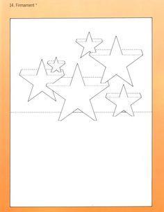 Picasa Web Albums Multiple stars Pop Up cards Kirigami Templates, Pop Up Card Templates, Origami And Kirigami, Star Template, Pop Out Cards, 3d Cards, Paper Cards, Arte Pop Up, Pop Up Karten