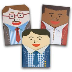 Sending these origami dads to my Compassion children to fold for Father's Day. Remember to send in March to arrive in time. Popup, Pop Up Karten, Fathers Day Messages, Origami Cards, Father's Day Greetings, Father's Day Greeting Cards, Free Cards, Great Father's Day Gifts, Fathers Day Crafts