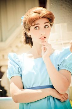 """Wendy character at Disneyland  I just want to call Disneyland and scream """"You're so pretty!"""" at this girl."""