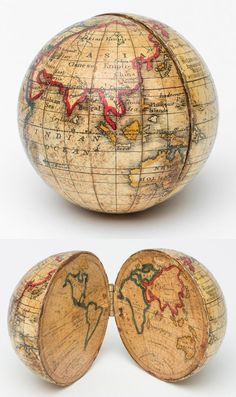 """mapsontheweb: """"An Opening Pocket Globe, made by Holbrook Apparatus Manufacturing Co."""