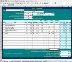 WMC Couponing Spreadsheet - Excel