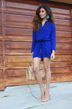 short blue jumpsuit - Buscar con Google