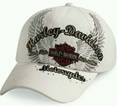 New - Harley-Davidson Women's Hat- Genuine Harley Davidson - White and Summery