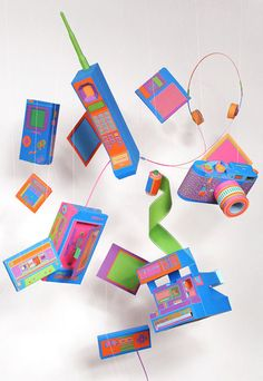 Zim and Zou paper sculptures. I am totally crushing on the Polaroid camera!