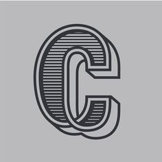 The letter c. This is the part of a letter series done by Zachary Spurling # letter Letter C, Letter Form, Type Design, Graphic Design, Buick Logo, Hand Lettering, Typography, Logos, Letterpress