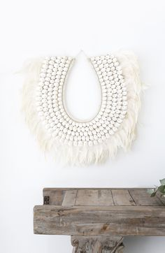 Losari Home & Woman - Sofia Large Feather and Shell Tribal Necklace…
