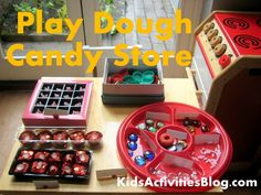 Play dough Candy Store - lots of pretend play, writing and math activity ideas linked to fun play Tactile Activities, Activities For Boys, Crafts For Kids, Motor Activities, Preschool Ideas, Dramatic Play Centers, Play Centre, Pretend Play, Role Play