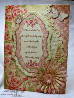 Our Daily Bread Designs,  Faith, Asters and Leaves,   Vintage Flourish Pattern, Blushing Rose Collection, designer-Linda Carson