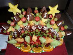 football fruit tray