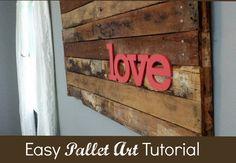 Easy Pallet Art Tutorial