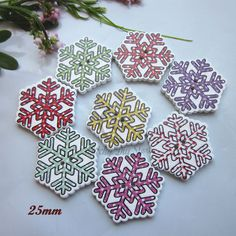 New 50pcs Christmas Holiday Wooden Collection Snowflakes Buttons Snowflakes Embellishments 18mm Creative Decoration Fixing Prices According To Quality Of Products Buttons Home & Garden