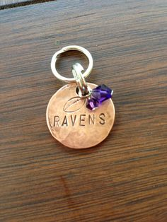 Baltimore Ravens Keychain on Etsy, $12.00