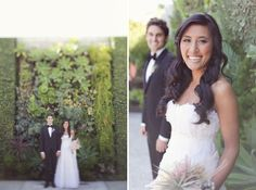 """{    A WHIMSICAL WEDDING AT THE SMOG SHOPPE IN LOS ANGELES: MICHELLE + RYAN    }  .... """"Michelle + Ryan crafted lots of their elements themselves and many with the help of the talented ladies at Sitting In A Tree Events. From the gorgeous bridesmaids dresses to the air plants to the guys in tuxes and the oh-so-many hearts they incorporated, I thought this was a perfect wedding for the week before Valentine's Day. :) I hope you all enjoy also and biggest congrats to Michelle + Ryan!"""""""