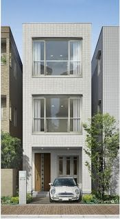 loveartlife - 0 results for architecture Narrow House Designs, Modern Small House Design, Narrow Lot House Plans, Modern House Plans, Modern Townhouse, Townhouse Designs, Bungalow House Design, House Front Design, Casas Containers
