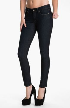 Paige 'Verdugo' Stretch Skinny Jeans (Dark Blue)   Nordstrom - most amazing jeans, ever.