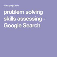 problem solving skills assessing - Google Search