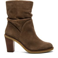 Vince Camuto Parka Bootie Shoes ($159) ❤ liked on Polyvore featuring shoes, boots, ankle booties, ankle boots, botas, booties, bootie boots, taupe boots, taupe booties and high heel bootie