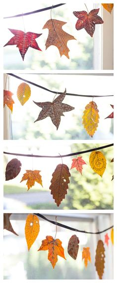 Make an Autumn Leaf Garland with Zentangle Leaves