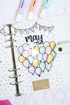 Bullet Journal Monthly Cover Ideas For May 2019 - Crazy Laura A new month in your bullet journal can be tough, espically if you don't have your theme yet. These May monthly cover page ideas will spring you into summer! Bullet Journal August, Bullet Journal Cover Ideas, Bullet Journal Banner, Bullet Journal Writing, Bullet Journal Aesthetic, Bullet Journal School, Bullet Journal Themes, Bullet Journal Layout, Journal Covers