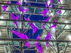 Crystal Growth / exterior lighting scultpure/ by Hans van Bentem & KOLEKTIV ATELIERS - lovely violet