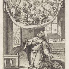 Petrus' visioen van de onreine dieren, Anonymous, after Maerten de Vos, 1591 - 1600 - Rijksmuseum