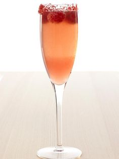 This simple, fruity drink is a cross between a top-shelf margarita and a champagne cocktail. Get the recipe on HGTV.com.