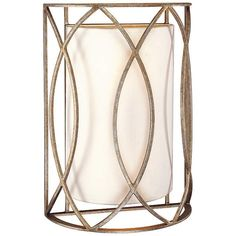 """Sausalito 14"""" High Silver-Gold Wall Sconce - #H6812 