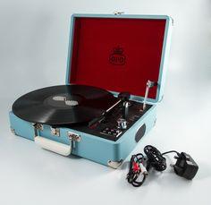 Portable Record Player Blue | i love retro