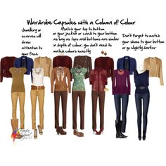 """Wardrobe capsules column of colour"" by imogenl on Polyvore"