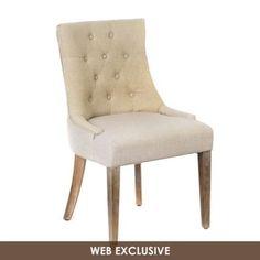 Natural Linen Torquay Accent Chair